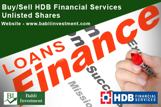 HDB Financial Services Unlisted Shares Buy Sell